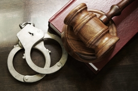 Gavel and handcuffs - California three strikes rule